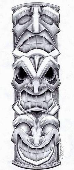 Totem Pole Tattoo Design by SpiderLAW.deviantart.com on @deviantART tatuajes | Spanish tatuajes |tatuajes para mujeres | tatuajes para hombres | diseños de tatuajes http://amzn.to/28PQlav
