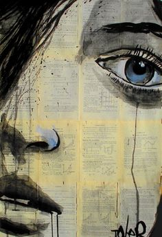 "Saatchi+Online+Artist+Loui+Jover;+Drawing,+""this+soul""+#art"