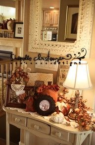 Pretty fall display ...nothing is more fun than an entry table to decorate