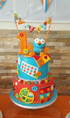 Giggle and hoot - Cake by Galyna Harb 1st Birthday Cakes, 1st Birthday Photos, 1st Birthday Parties, Birthday Ideas, Cake Design Inspiration, First Birthdays, Cupcake Cakes, Cake Decorating, Hadley