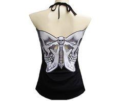 Rockabilly punk rock baby butterfly skull tatto tank top shirt s m l xl xxl standard tops 5 Rockabilly Outfits, Rockabilly Fashion, Rockabilly Clothing, Alternative Clothing Brand, Alternative Fashion, Lace Up Tank Top, Tank Top Shirt, Dark Fashion, Gothic Fashion