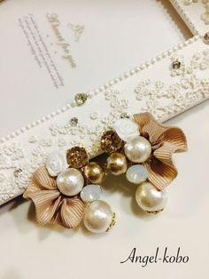 pearls and bown Cute Jewelry, Diy Jewelry, Jewelery, Jewelry Design, Fashion Jewelry, Hair Accessories Uk, Craft Accessories, Handmade Accessories, Small Earrings