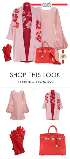 """""""Red and Pink Rooster 2017"""" by yours-styling-best-friend ❤ liked on Polyvore featuring Cynthia Rowley, River Island, Mark & Graham, Hermès and Kate Spade"""