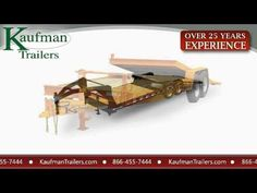 Kaufman offers a comprehensive line of equipment trailers. Load your equipment with swing up ramps or on a tilting bed that does not need ramps. Every Kaufma. Equipment Trailers