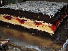 "Ciasto""Cygan"" Polish Cake Recipe, Polish Recipes, Polish Food, Sweets Cake, Cookie Desserts, Doughnut Muffins, Food Cakes, Cake Cookies, Ale"