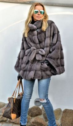 2015 milano graphite superior saga mink fur poncho clas of jacket coat  sable fox 0803f73a37c