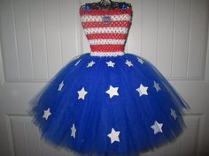 Fourth of July Tutu Dress, Independence Day 4th of July on Etsy, $30.00