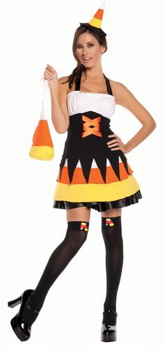 Sexy Candy Corn Costume. Halloween in Candy Corn Hollow Theme Party u0026 Decorating Ideas  sc 1 st  Pinterest & Adult Halloween Candy Corn Witch Costume | Halloween in Candy Corn ...