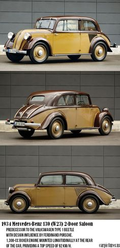 1934 Mercedes-Benz 130 (W23) 2-Door Saloon.....Owie been waiting for a ride like this :)