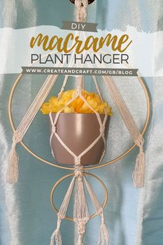Plant hangers are one of the most popular macrame projects to get stuck into at the moment – not only are they a beautiful home decor piece, but they make adding a new plant to your collection – even if you've run out of room on the shelf – easy! Check out our tutorial and learn how to create your own. Unique Home Decor, Diy Home Decor, Macrame Wall Hanging Diy, Plant Hangers, Macrame Projects, Create And Craft, Easy Crafts, Shelf, Patio