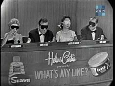 Ed Sullivan--What's My Line What's My Line, Line Tv, Line Game, The Ed Sullivan Show, Television Program, Joan Rivers, Good Ole, Old Tv, Tv On The Radio
