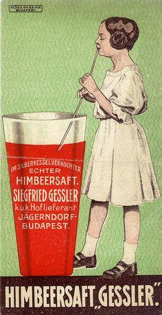 Vintage Hungarian Advertisement - Siegfred Gessler Raspberry Juice1903   Flickr - Photo Sharing!