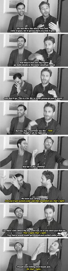 Aidan Turner and Dean O'Gorman They must've had the time of their lives!