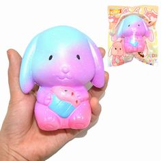 Kiibru Squishy Judy Bunny Holding Cupcake 10cm Slow Rising Original Packaging Collection Gift Toy
