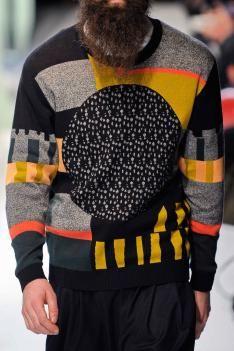 A/W 14/15 men's catwalks: print & pattern global round-up Henrik Vibskov.