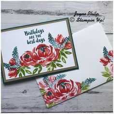 Stampin Up! Beautiful Friendship Stampin Up! Happy Anniversary Wishes, Stampin Up Catalog, Friendship Cards, Get Well Cards, Stamping Up, Flower Cards, Creative Cards, Greeting Cards Handmade, Scrapbook Cards