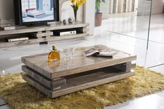 Marble Top Coffee Table Rectangular