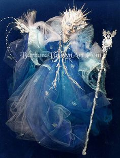 Snow Queen Doll by Barbara Brown - Fantasy art galleries at Epilogue.net - Fantasy and Sci-fi at their best