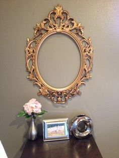 Large Vintage Gold Mirror by StockUpGarnerMore on Etsy, $90.00
