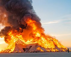 burning man art installations: a look at black rock city's fiery finish