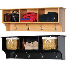 Keep your gloves, hats, coats and jackets together where you need them with the Entryway Cubbie Shelf. Perfect for any front hallway, mudroom or home office, this cubbie shelf's three compartments have room for everything from mittens to schoolbooks. Cubby Bench, Cubby Shelves, Cubby Storage, Cubbies, Mudroom Benches, Bath Storage, Front Hallway, Hanging Rail, Decoration