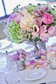 Let's continue with our spring wedding topic, today we will talk about spring wedding centerpieces. Actually, no matter about seasons, fresh flowers are always the major element of wedding centerpiece decoration. Spring Wedding Centerpieces, Small Centerpieces, Wedding Decorations, Centerpiece Ideas, Holiday Decorations, Mod Wedding, Chic Wedding, Wedding Table, Wedding Day