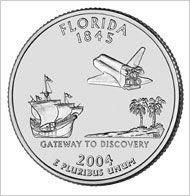 Shop High Grade Florida State Quarters at The Coin Shop! Florida Sunshine, Sunshine State, U.s. States, United States, States America, North America, State Quarters, Quarter Dollar, Coin Shop
