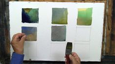 Watercolor Mixing - Creating Green, Gray, and Violet - Excellent demo for landscape colors