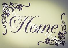 Schablone Vintage Blumenmuster HOME Möbel Stoff ❤ Airbrush Shabby Chic 190 Mylar Airbrush, Home Furniture, Stencils, Shabby Chic, Letters, Vintage, Ebay, Floral, Fabric