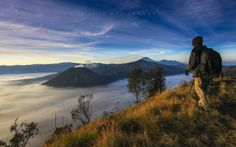 Mt. Bromo Viewpoint 2, Tosari, Indonesia — by Oyi Kresnamurti. This picture was taken at Bromo Mountain, East Java. You should go earlier in the morning to keep your best spot...