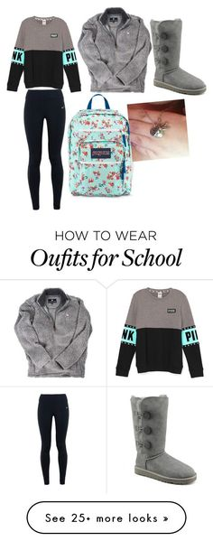 """School days"" by mgarrison41 on Polyvore featuring UGG Australia, NIKE and JanSport"