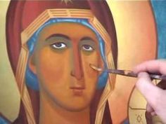 Byzantine Iconography School - YouTube Byzantine Icons, Byzantine Art, Religious Icons, Religious Art, Watercolor Techniques, Painting Techniques, Monastery Icons, Russian Icons, Madonna And Child