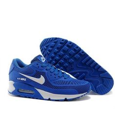df5a3d5d5b Men Women's Nike Air Max 90 KPU Royal Blue White UK Store Nike Shoes,  Sneakers
