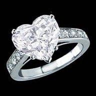 Heart shaped diamond ring    #rings
