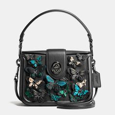 Coach Butterfly Applique Page Crossbody in Glovetanned Leather $550