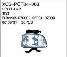 XC3-PCT04-003 Fog lamp R92202-07000 L92201-07000 86*38*31 20PCS Auto Parts,car body parts,head lamp,fog lamp,tail lamp,bumper,hood,side mirror replacement http://www.jsxcauto.com/
