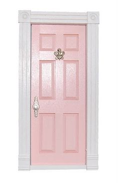 pink door for girl's room door, my daughter would love this!