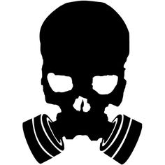 For your consideration is a die-cut vinyl Gas Mask Skull decal available in multiple sizes and colors. Vinyl decals will stick to any smooth clean surface including glass, walls, laptops, phones, cars