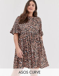 2d55cb2111 Asos Curve, Smock Dress, No Frills, Smocking, Plus Size Dresses, Fashion