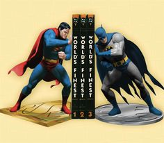 Superman & Batman Bookends
