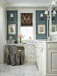 Wonderful Bathroom w/ Sit Down Vanity | Content in a Cottage