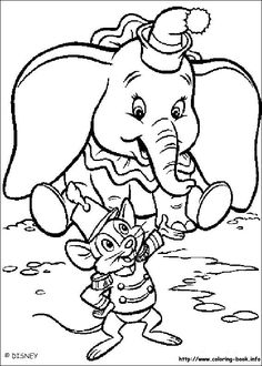 Dumbo coloring picture