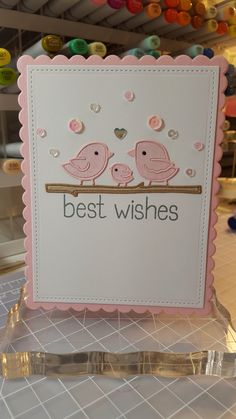 Best Wishes card by Lindsey Bailey - Paper Smooches