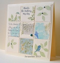 My grid and inchie projects: Beige, blue and green