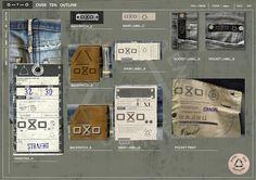 OXO denim labeling