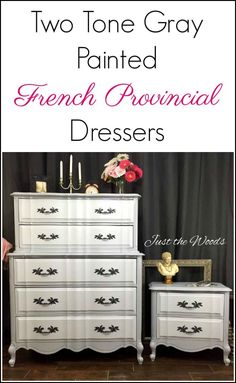 French Provincial Painted Dresser Set in Gray Two Tone French Provincial Painted Dresser Set in Gray Two Tone Alexandra wifesense Upcycling Old Stuff French provincial painted furniture Painted french nbsp hellip makeover two tone Diy Home Decor Projects, Furniture Projects, Furniture Makeover, Diy Furniture, Dresser Makeovers, Refurbishing Furniture, Furniture Upholstery, Furniture Outlet, French Provincial Bedroom