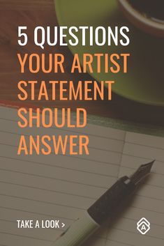 "Answer these 5 questions in your artist statement and get your art sales off to a good start. Plus, read inspiring artist statements by artists who've ""made it. Selling Art Online, Online Art, Fun Craft, Craft Ideas, Sell My Art, Artist Bio, Art Tips, Art Market, Art Blog"