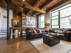 Here's a Nice Tri-Level Timber Loft Townhouse for Only $495K - Under $500K Club - Curbed Chicago