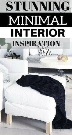 Looking for some stunning  MINIMAL interiors..... here are some ideas