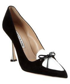 MANOLO BLAHNIK Manolo Blahnik Balumod Suede &Amp; 100Mm Patent Pump'. #manoloblahnik #shoes #pumps & high heels